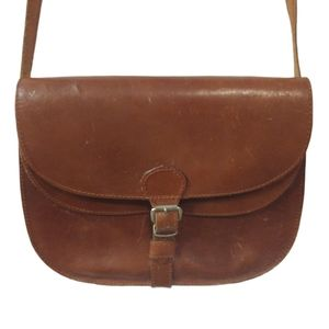 Vintage European Genuine Leather Crossbody Purse